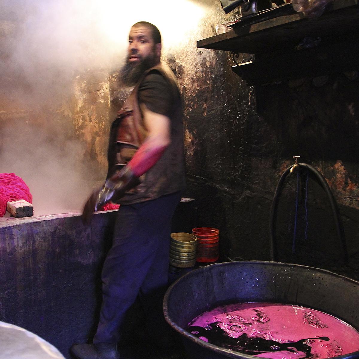 Gremio tintes Marrakech