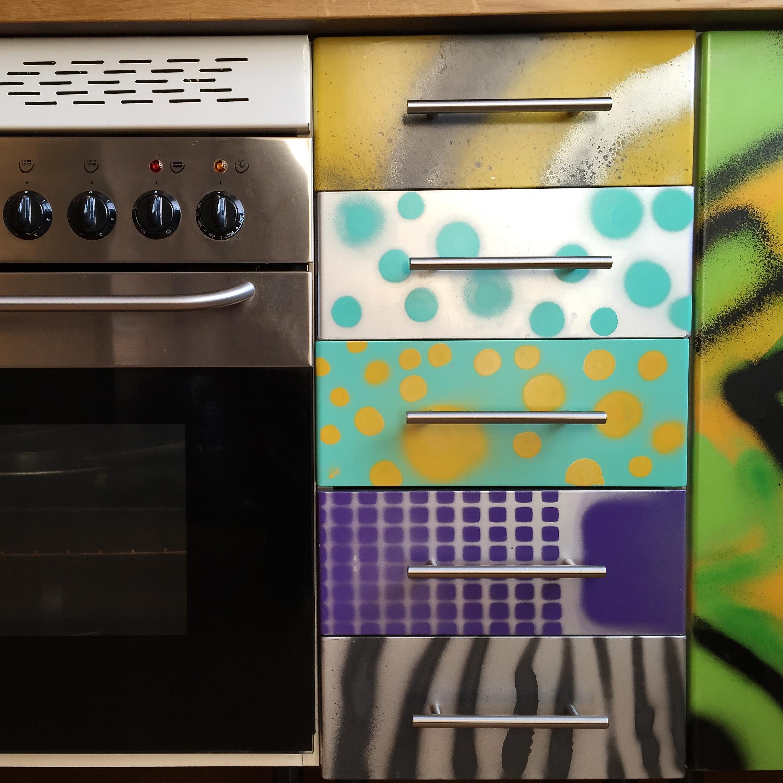 Arte callejero para decorar cocinas