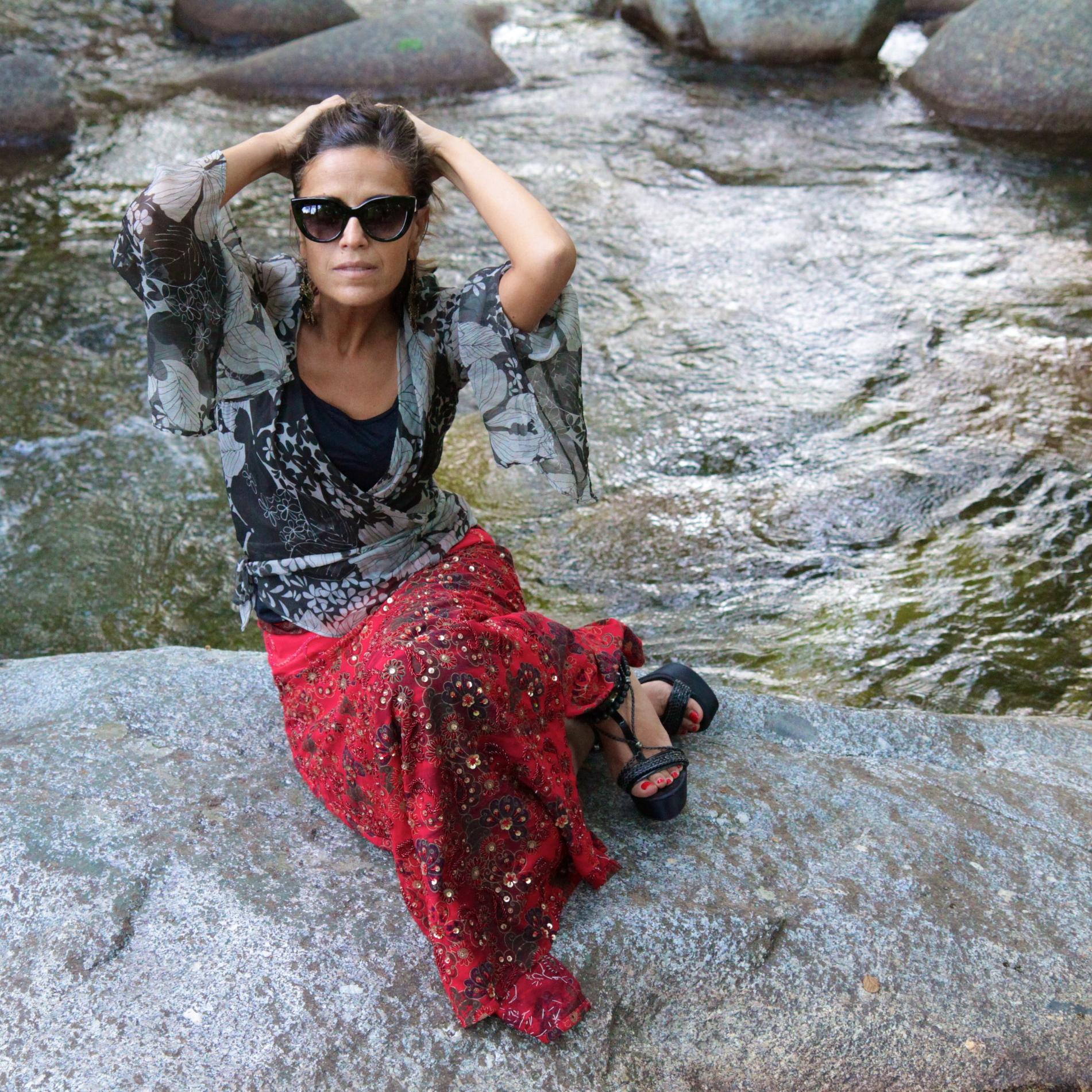 Falda larga comprada en Bangkok