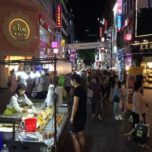 Cosmética coreana en el centro de Seúl