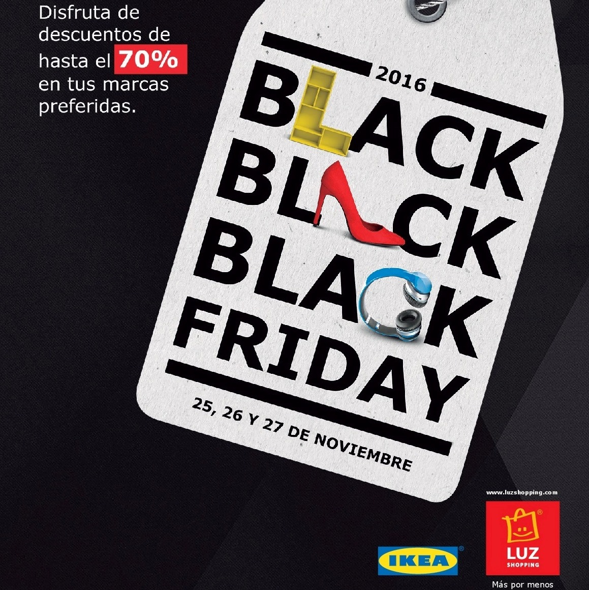 Tiendas Black Friday. LUZ shopping