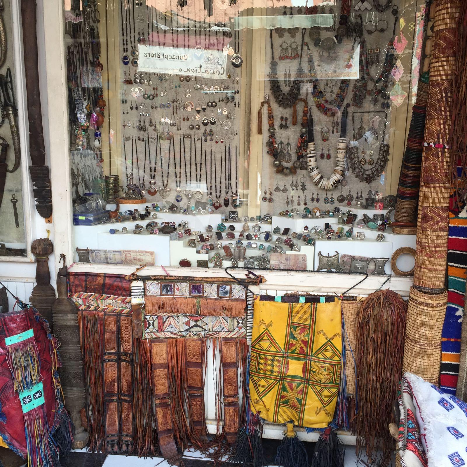 tienda de Marrakech joyas en la Plaza de las Especias
