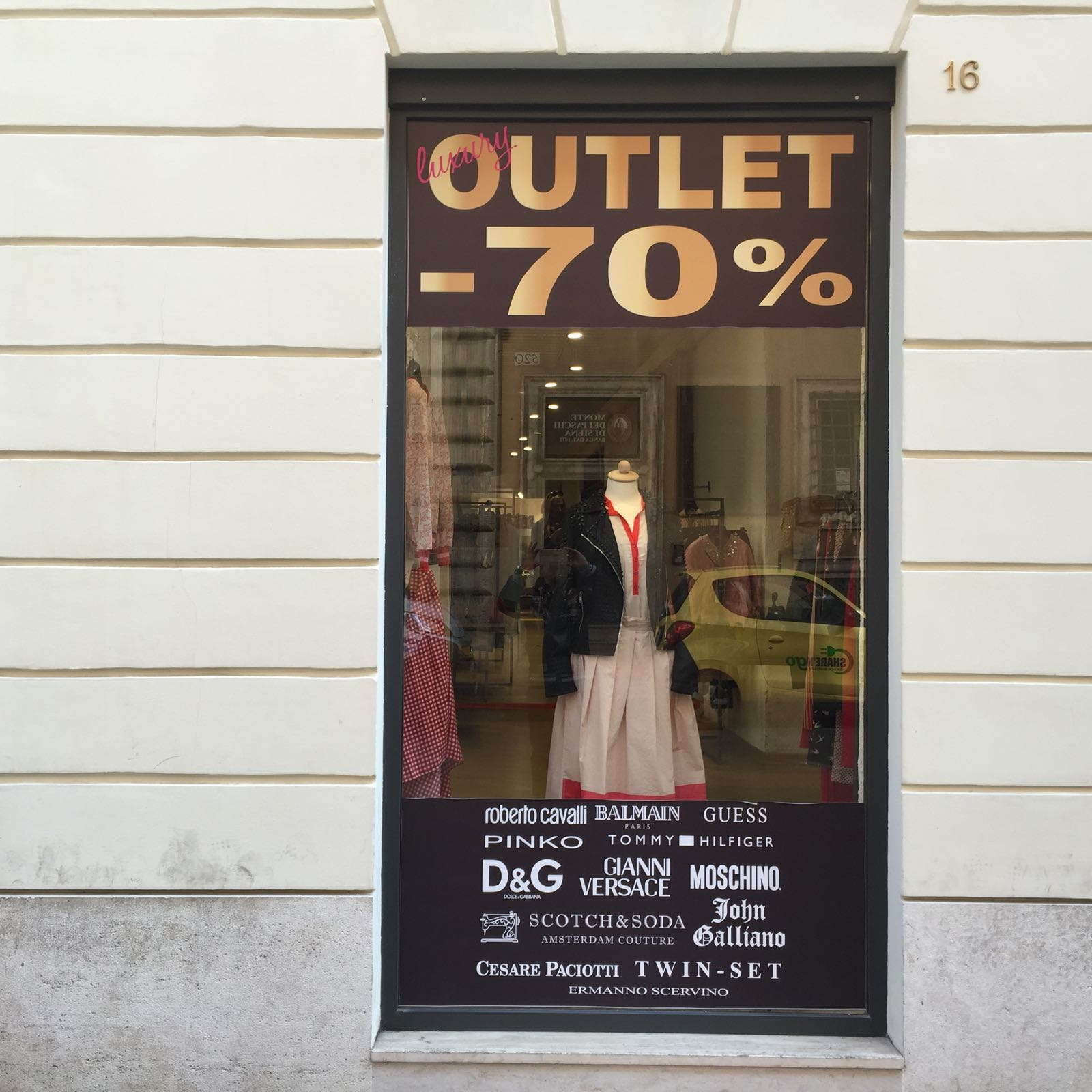 Outlets en Roma con descuentos de hasta el 70%