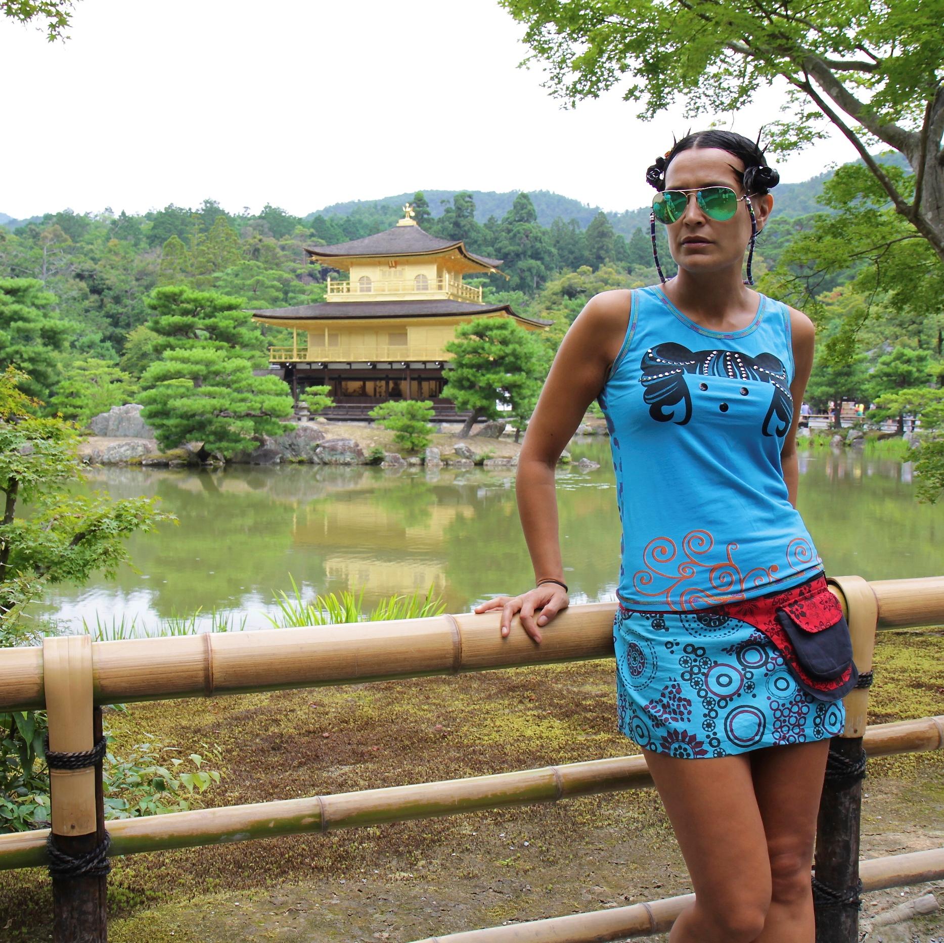 Con falda hippy en Japón