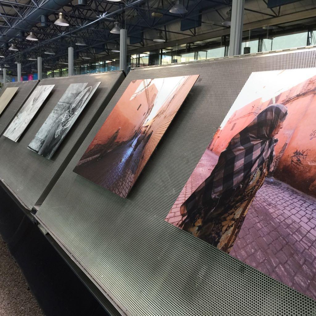 Exposición fotos aeropuerto Madrid