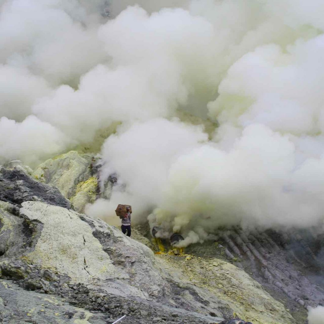 Volcán de Ijen y mina de azufre
