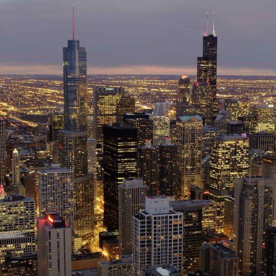 Vista de Chicago desde la Torre Hancock