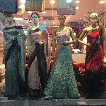 Saris indios de boda y fiesta