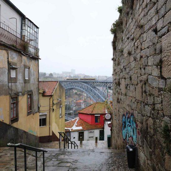 Zona de la ribera en Oporto