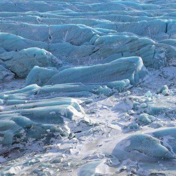 Paisajes de Islandia nevados