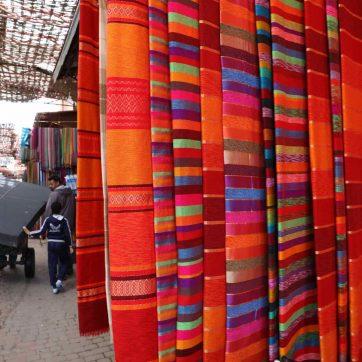 Colchas del zoco de Marrakech