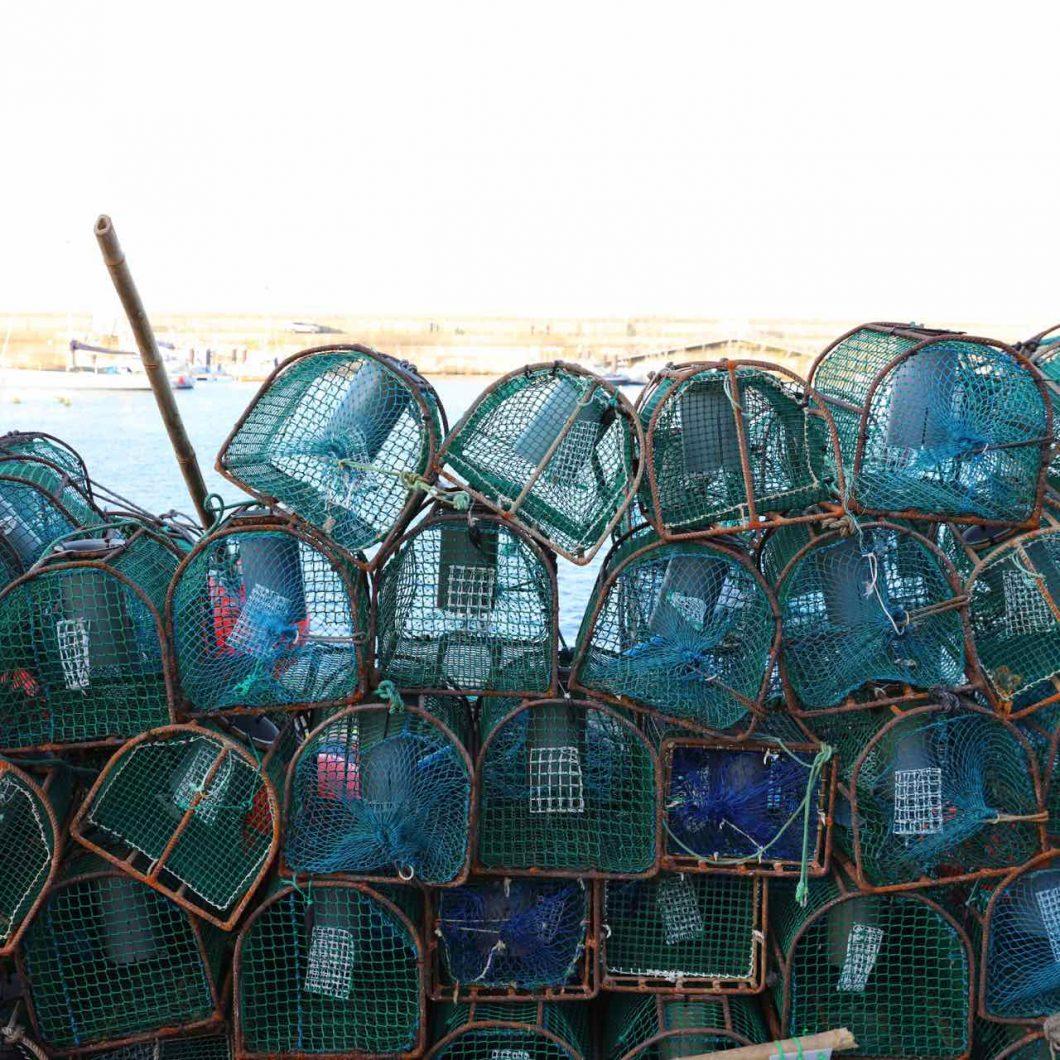 Nasas en el puerto de Cudillero