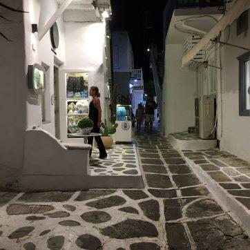 tiendas en la isla de Mykonos