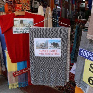 Comprar en Katmandú: lana y cashmire