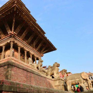 centro histórico en el Valle de Katmandú
