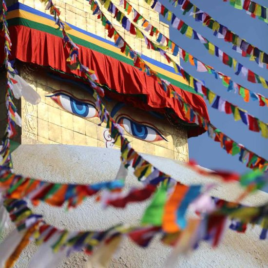 Stupa en Katmandú, Nepal