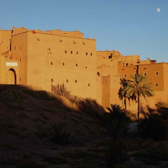 Paisaje de Navidad en Ouarzazate,