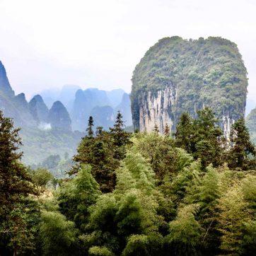 Paisaje del río Li en Guilin