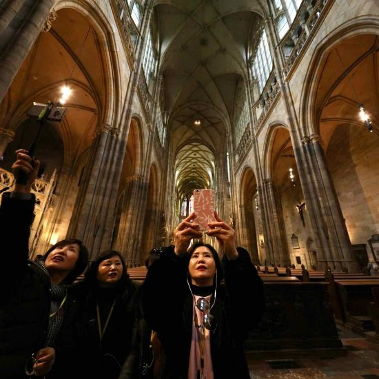 Selfies en la catedral de Praga