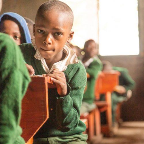 Estudiante del colegio de Arusha