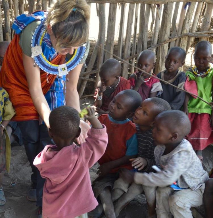 Marian Mesonero en Tanzania